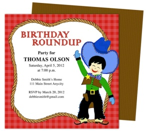 kids birhtday party invitations