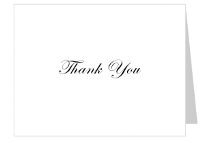 free thank you card template
