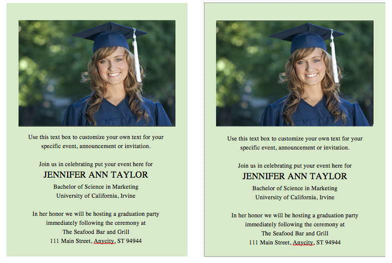 Free graduation invitation template celebrations of life for Senior announcement templates free